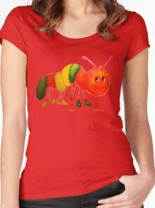 Happy Caterpillar  Women's Fitted Scoop T-Shirt
