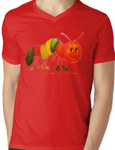 Happy Caterpillar  Mens V-Neck T-Shirt