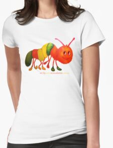 Happy Caterpillar  Womens Fitted T-Shirt