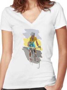 Maillot Jaune Women's Fitted V-Neck T-Shirt