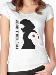 Who the Hell Is Bucky? Women's Fitted Scoop T-Shirt