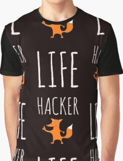 Foxy Life Hack Graphic T-Shirt