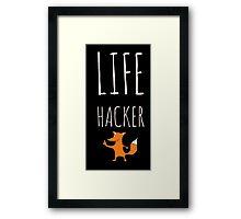 Foxy Life Hack Framed Print