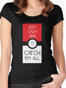 keep calm and catch pokemon Women's Fitted Scoop T-Shirt