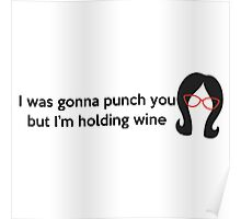 Holding Wine Poster