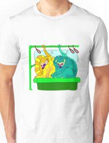 Lemurs are sleeping in subway Unisex T-Shirt