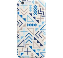 Jumble Geometric Shapes Blue Pattern Abstract Print Design iPhone Case/Skin