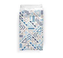 Jumble Geometric Shapes Blue Pattern Abstract Print Design Duvet Cover