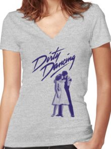Dirty Dancing Women's Fitted V-Neck T-Shirt