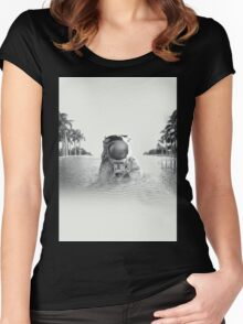 Astronaut Women's Fitted Scoop T-Shirt