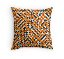 Irregular Geometric Blocks Square Quilt Pattern Throw Pillow