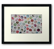 Collage Dots - JUSTART © Framed Print