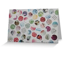 Collage Dots - JUSTART © Greeting Card