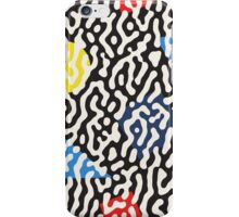 Jumble Black and White Drips And Color Polygons Pattern iPhone Case/Skin
