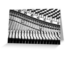 Piano Strings, Hammers & Pegs Greeting Card