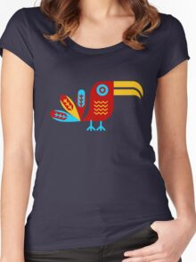 Toucan, bird, birdy, colorful Women's Fitted Scoop T-Shirt