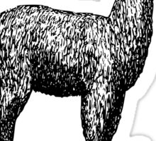 This llama doesn't need (want) your drama Sticker