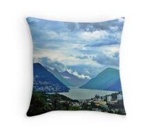 Lago di Lugano Throw Pillow