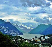 Lago di Lugano by Karen  Rubeiz