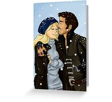 Kiss under the snow Greeting Card