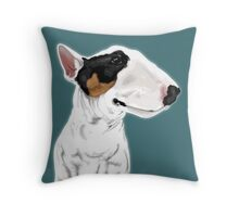Johnny Cash Bull Terrier  Throw Pillow