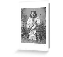 Geronimo Native American Tribe Leader Greeting Card