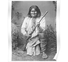 Geronimo Native American Tribe Leader Poster