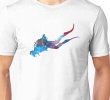 Man scuba diver 03 in watercolor Unisex T-Shirt