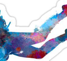 Man scuba diver 03 in watercolor Sticker
