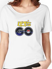 funny tshirt poke, let's go Women's Relaxed Fit T-Shirt