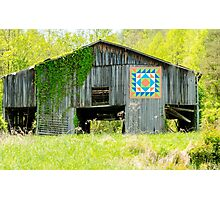 Kentucky Barn Quilt - Thunder and Lightening Photographic Print