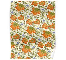 Green Bird Pattern Poster