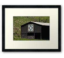 Kentucky Barn Quilt - Snow Crystals Framed Print