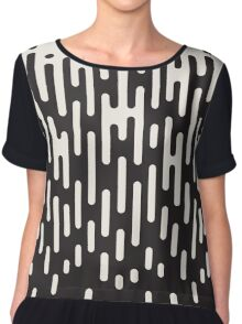 Rounded Lines Halftone Transition Pattern Print Design Chiffon Top