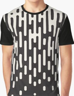 Rounded Lines Halftone Transition Pattern Print Design Graphic T-Shirt