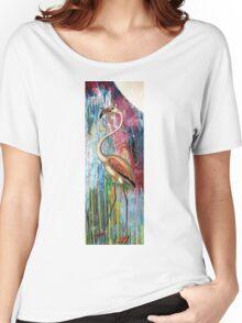 MOONLIGHT FLAMINGO Women's Relaxed Fit T-Shirt