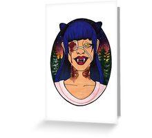 Vampire Girls Will Never Hurt You Greeting Card