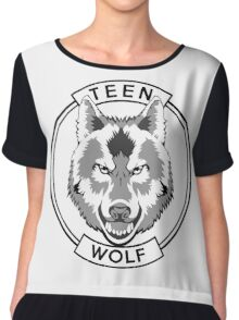 Teen Wolf (Black) Chiffon Top