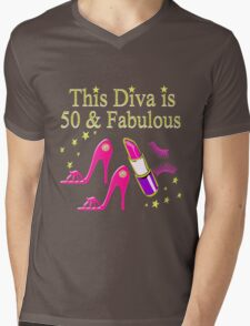 DAZZLING AND FABULOUS 50 YEAR OLD Mens V-Neck T-Shirt