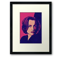 Icons - Gillian Anderson Framed Print