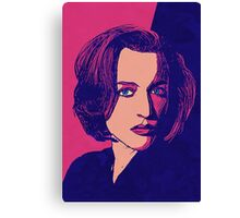 Icons - Gillian Anderson Canvas Print