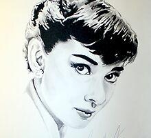 Audrey Hepburn portrait by Iroek