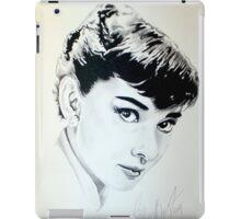 Audrey Hepburn portrait iPad Case/Skin