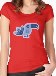 Blue toucan, Bird,  Women's Fitted Scoop T-Shirt