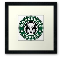 Moonbucks Coffee Framed Print
