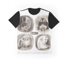 Four cute Owls Graphic T-Shirt