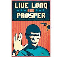 """-MOVIES- Spock """"Live Long And Prosper"""" Photographic Print"""