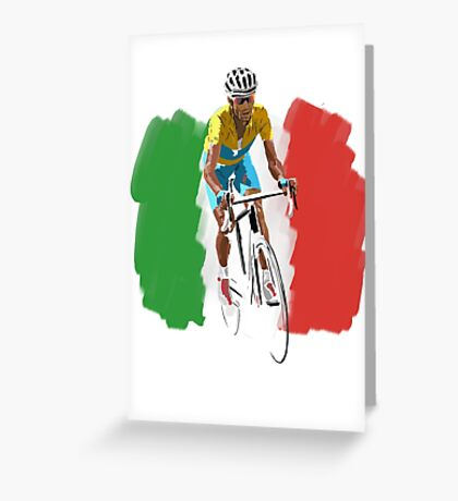 Maillot Jaune , Italy Flag Greeting Card