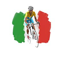 Maillot Jaune , Italy Flag Photographic Print
