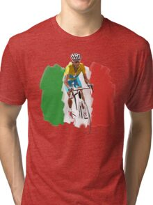Maillot Jaune , Italy Flag Tri-blend T-Shirt